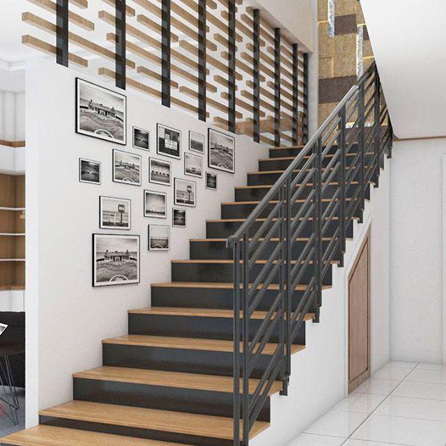 Stairs 🤓 Location : Pontianak Design by : Vip Studio #vipstudio #vip #architect #architecture #design #interior #idea #stairsidea