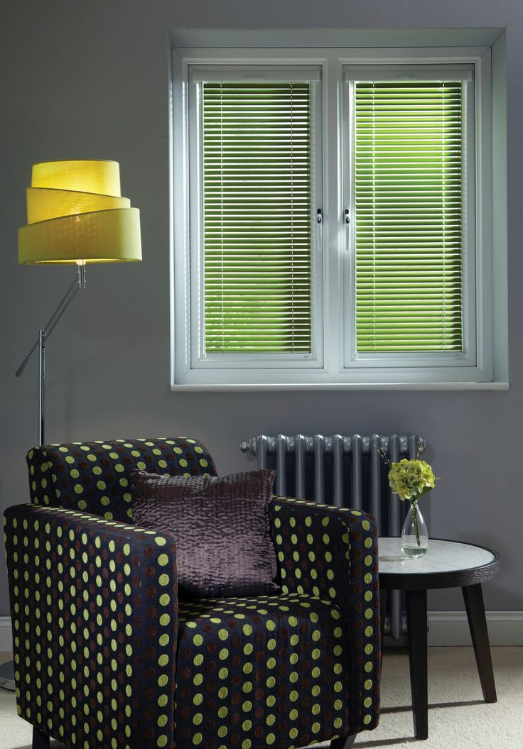 Funky green lounge blind