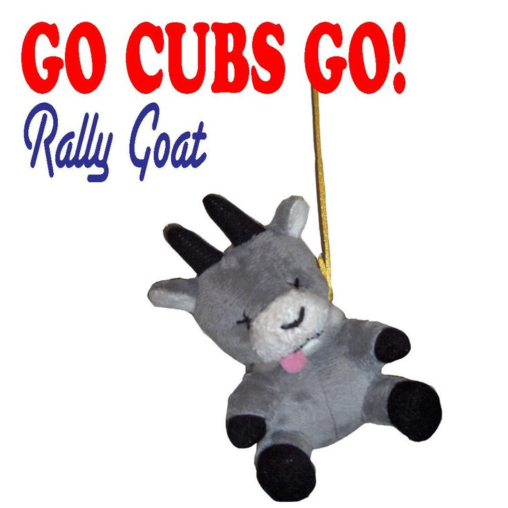 Cubs Goat Choker Rally Doll - Go Chicago Cubs GO!