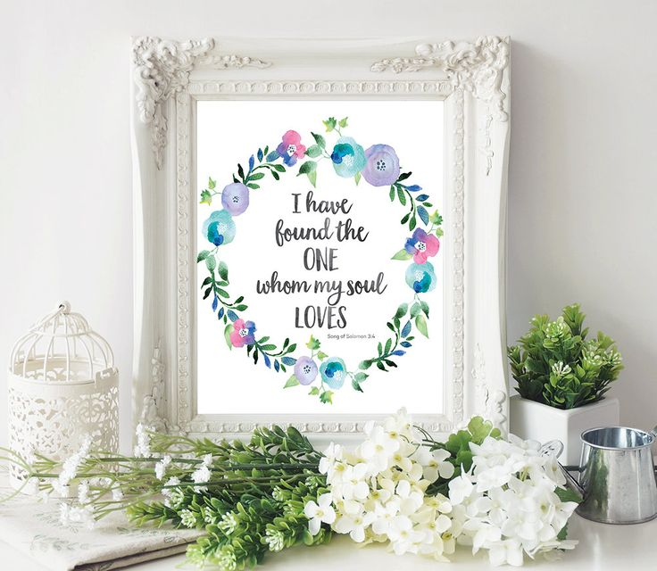 Scripture Quote Print - Bible Verse Art - Inspirational Quote - Bible Verse Print - Religious Quote - Digital Download - Christian Art by SmudgeCreativeDesign on Etsy