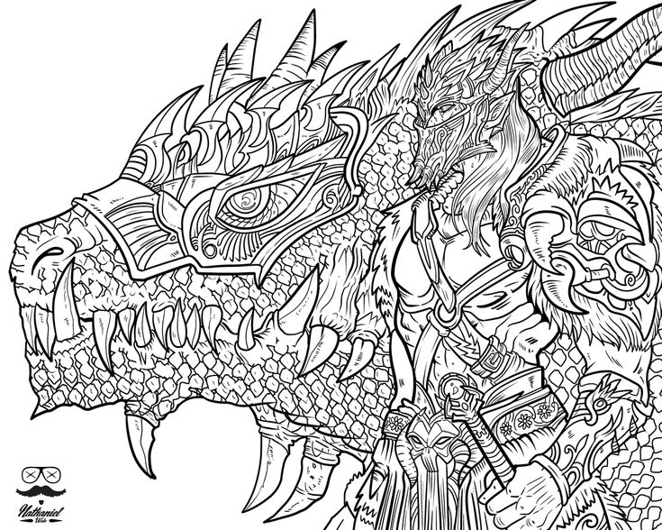 Nathaniel wakes dragon life adult coloring book available now