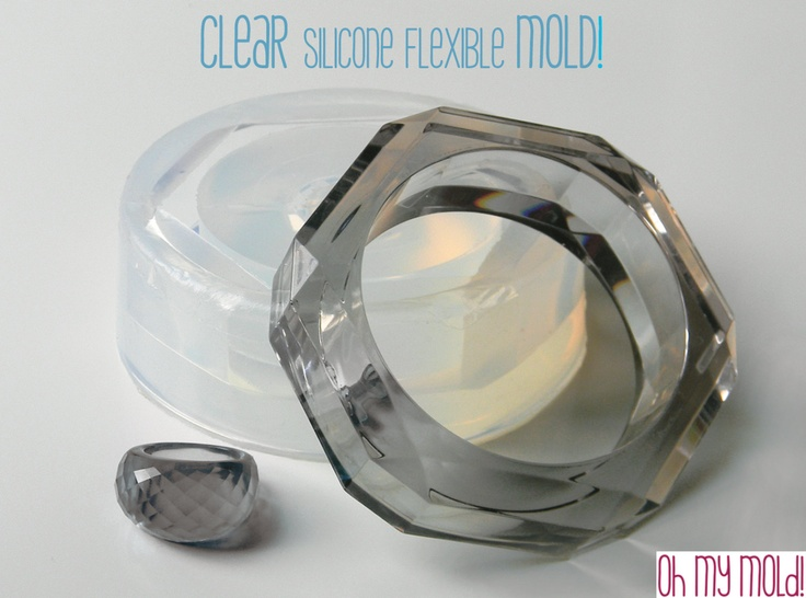 Clear Rubber mold For Faceted  Bangle and  Ring. €56.42, via Etsy.