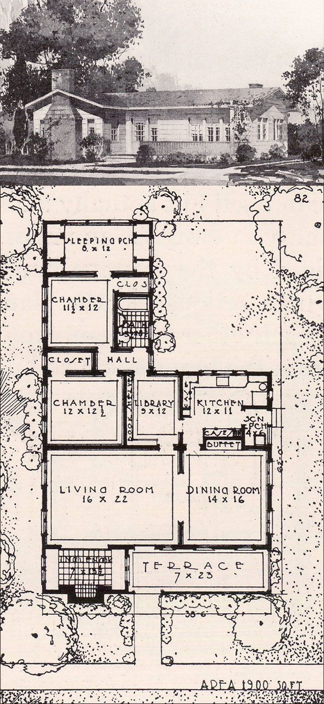 California Bungalow Style House 1916 Ideal
