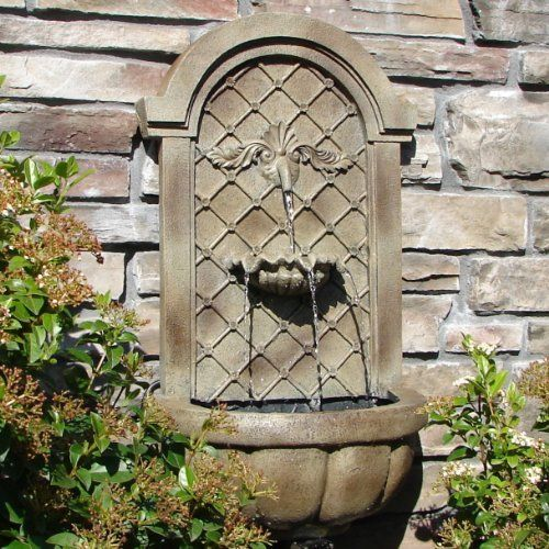 The Manchester   Outdoor Wall Fountain  Florentine Stone   Beautiful Water  Fountains Brings The Styles