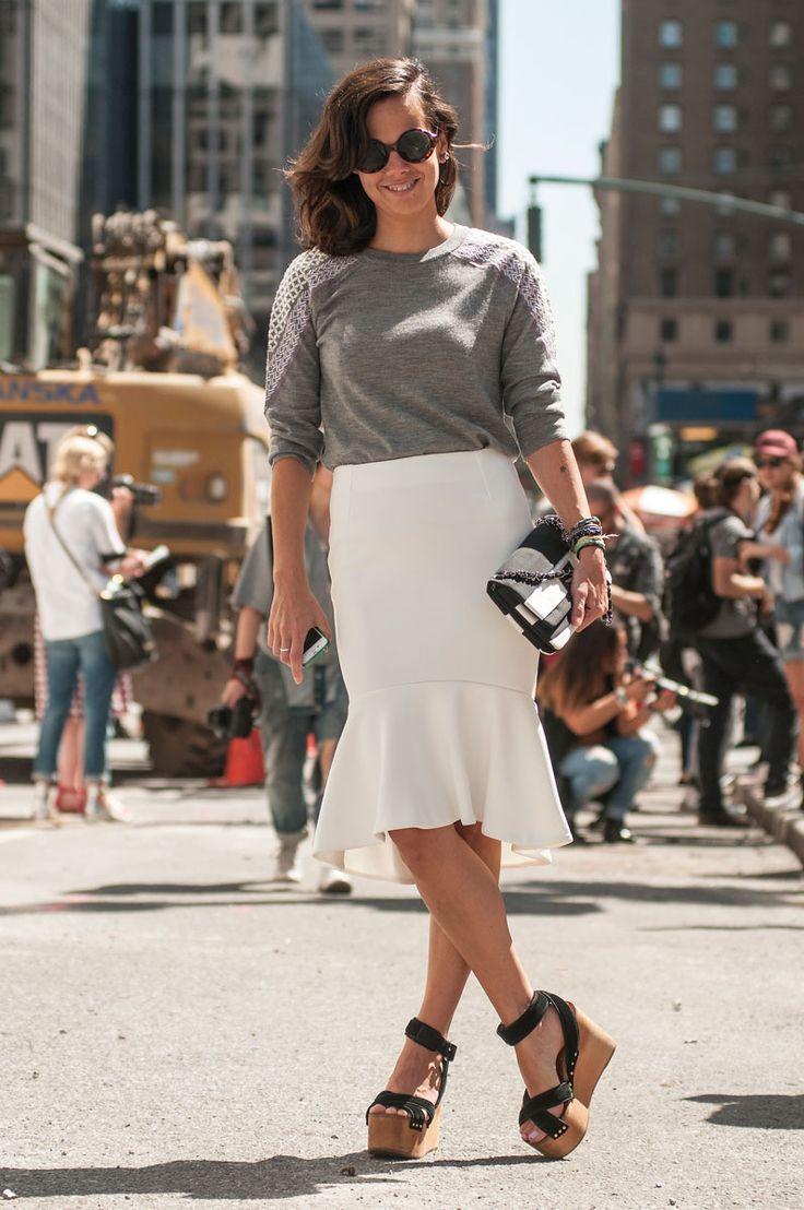 How to dress up a sweatshirt, New York.