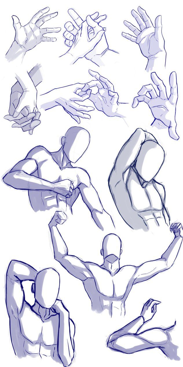 Hands and arms practice by Mrakobulka on deviantART