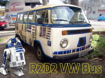 The only thing cooler than a vintage Volkswagon bus is one that is completely refurbished and decorated to exhibit some badass level of fandom.