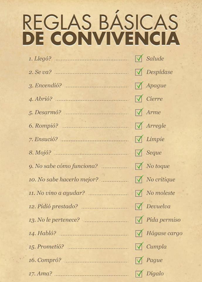 reglas basicas de convivencia