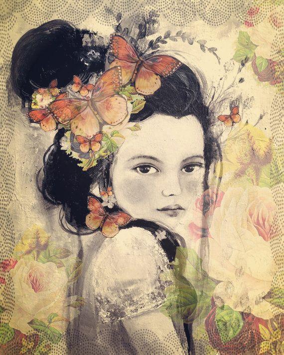 Marion met vintage rozen van claudiatremblay op Etsy