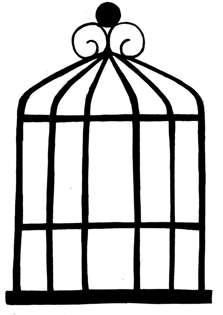 Simple Bird Cage Drawing Images & Pictures - Becuo | clip art ...