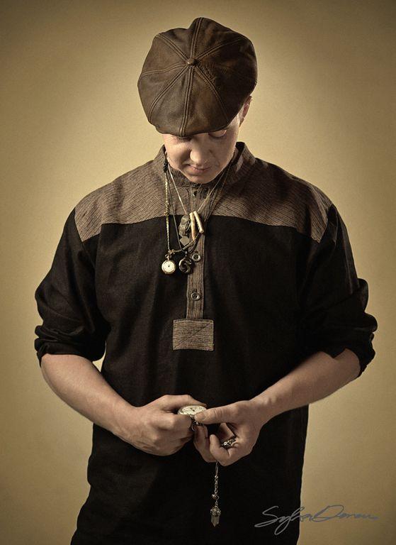 Black&brown linen shirt