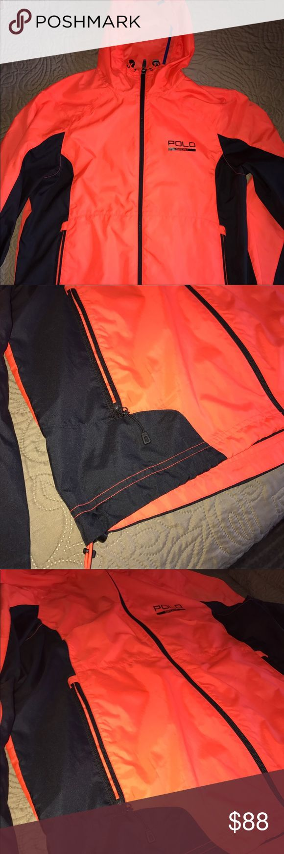 Polo Sport Windbreaker By Ralph Lauren Polo Sport Windbreaker by ralph lauren , size M with front pockets and adjustable waist straps Polo by Ralph Lauren Jackets & Coats Windbreakers