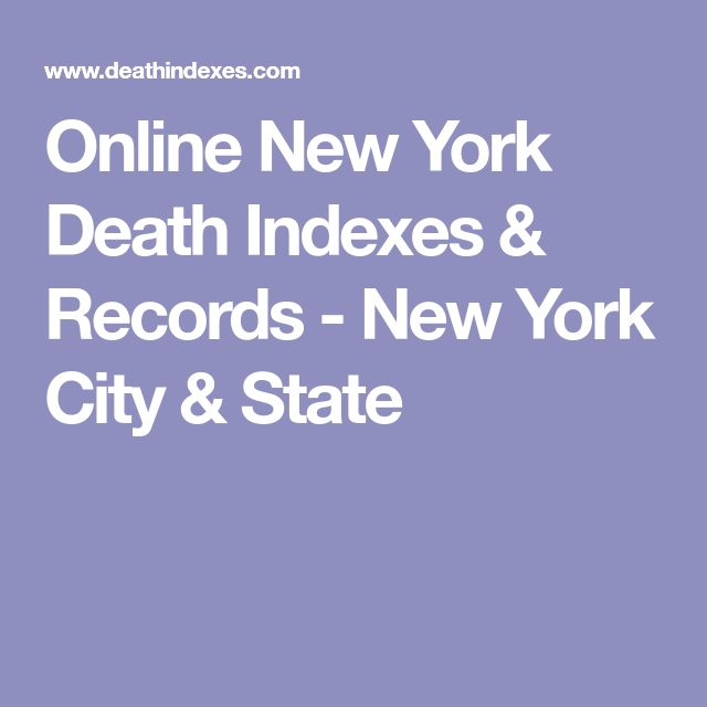 Online New York Death Indexes & Records - New York City & State