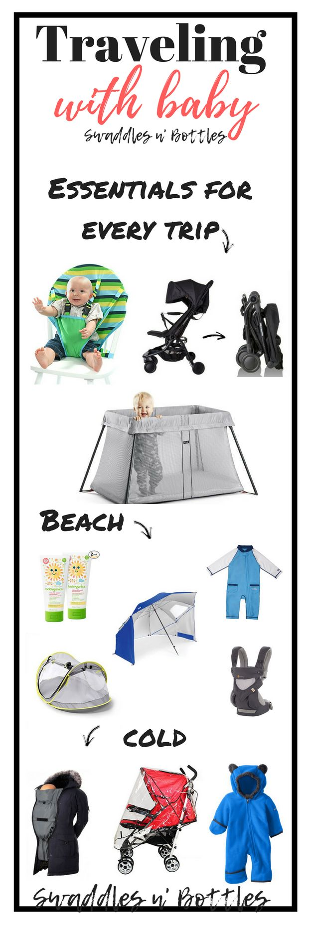 Traveling with Baby- A Complete List of the BEST Gear for Any Trip! | Baby Travel Cot | Stroller | Baby Carrier | Baby Beach Tent | Baby Travel High Chair |