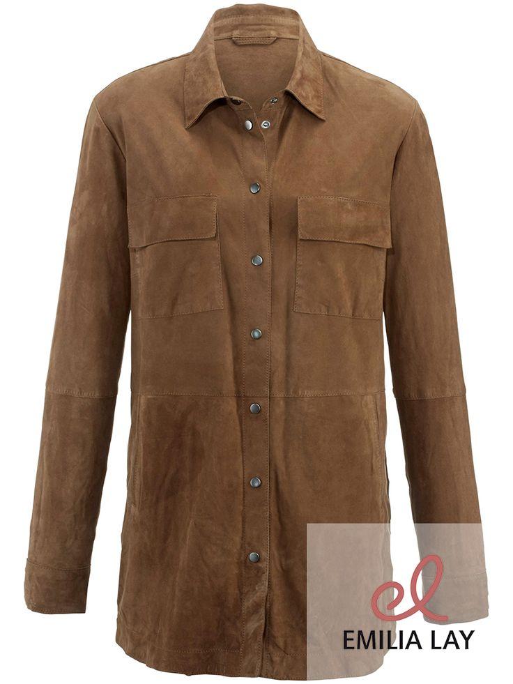 Lederhemd aus Ziegenveloursleder von Anna Aura