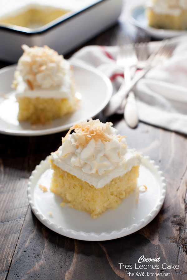Coconut Tres Leches Cake Recipe Coconut Cake and Bread bun