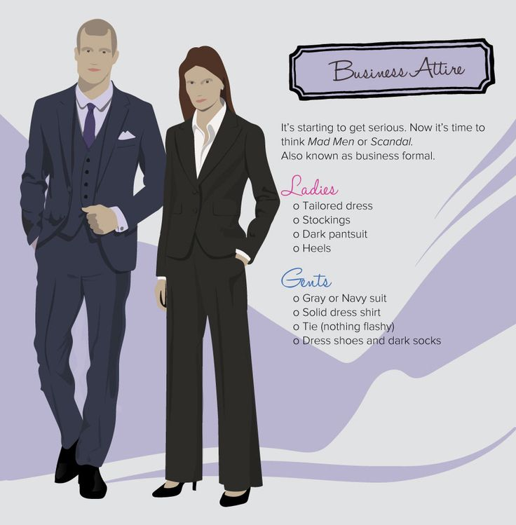 Decoding Dress Code - Business Attire | Theater - Costume Inspirations - Style Reference Guides ...