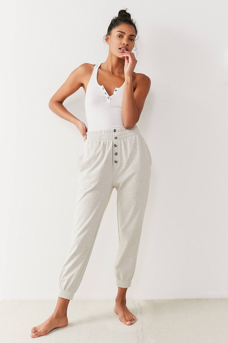Shop Out From Under Zen Button Jogger Pant at Urban Outfitters today. We carry all the latest styles, colors and brands for you to choose from right here.