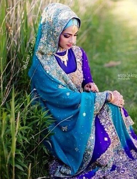 contoh baju sari india muslim