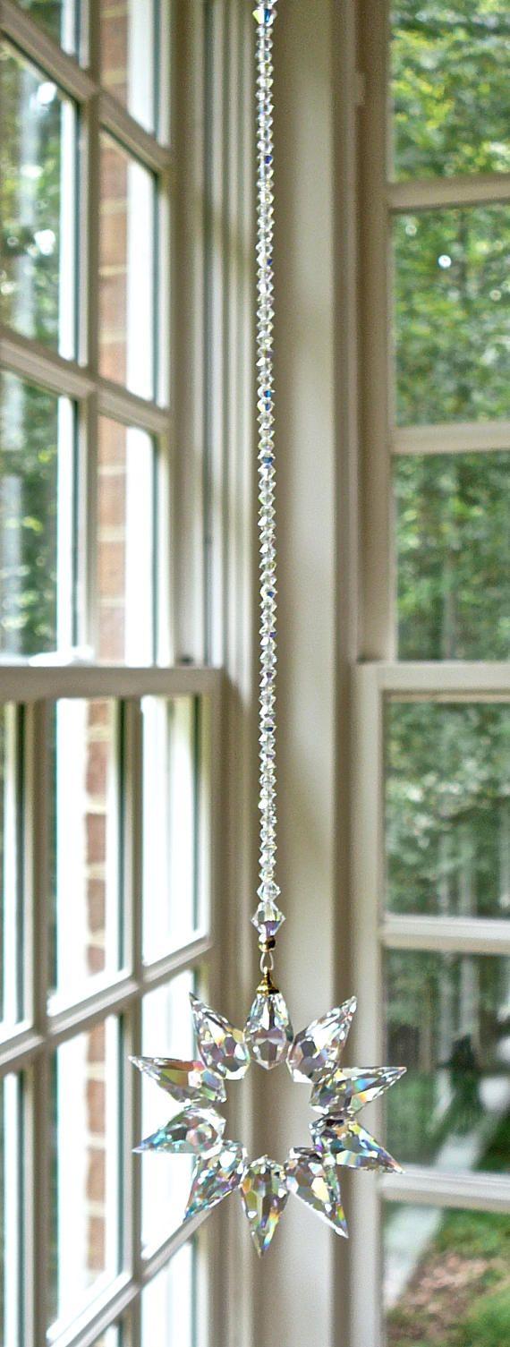 NIEUWE  Preciosa AB-Crystal ster hanger Suncatcher voor