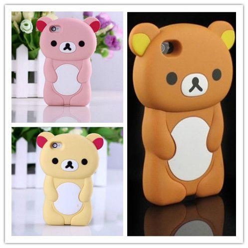 Rilakkuma Case Coque For iPhone 5S Case 3D Cute Brown Bear Cover For iPhone 5 5S SE 4 4S 5C Case Silicone Phone Cases Capa Funda