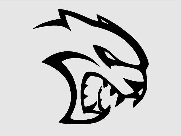 dodge hellcat logo by pex on thingiverse dodge