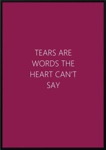 Plakat Tears
