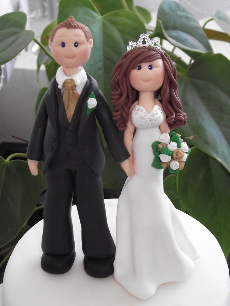 personalised bride and groom wedding cake topper  all handmade, customised. £75.00, via Etsy.