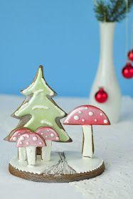 Christmas Cookies~                    By Hanielas, green tree, red mushrooms, 3D