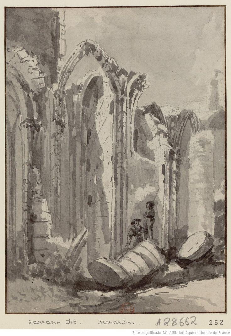 [Ruines de l'église des Bernardins] : [dessin] / [Jean-Philippe Sarazin]