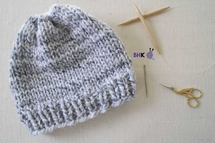 Want to learn how to knit? Make your first easy knit hat with this free pattern and complete step-by-step tutorial. You'll knit your first hat in no time!
