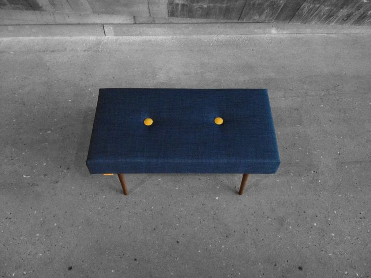 BENCH | take a seat | navy with natural finish legs www.benchtakeaseat.com