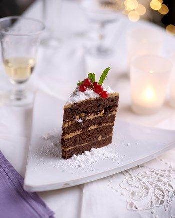 Chocoladetaart met koffieroom