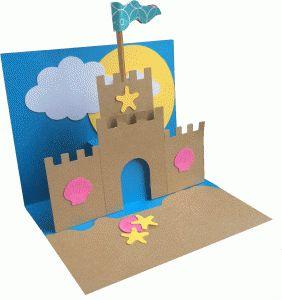 Silhouette Negozio Online - View Design # 62223: castello di sabbia pop up carta