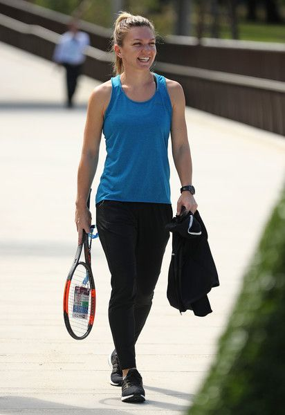 Simona Halep Photos Photos - Simona Halep of Romania arrives during a photocall at the new entrance to the Australian Open 2017 ahead of the 2017 Australian Open at Melbourne Park on January 8, 2017 in Melbourne, Australia.  Tanderrum Bridge now provides a seamless link from the city and Birrarung Marr to Melbourne Park, with the new entry point of the Australian Open Festival. - 2017 Australian Open - Previews