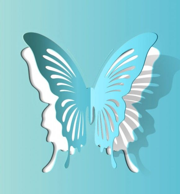 Butterfly Paper Cut Vector Material 34 57113 Picture 1 » Vector | Picideas.net - Vector Graphics