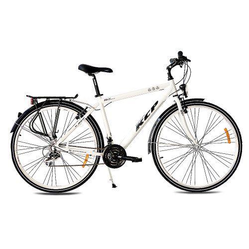 28 KCP TREKKING BIKE BICYCLE MEN ARA ALLOY with 21 speed SHIMANO white - (28 inch)