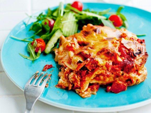 Broilerilasagne - Chicken Lasagne