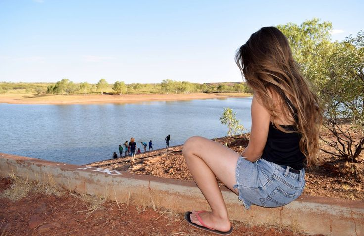 Enjoying the afternoon at Tennant Creek Australia