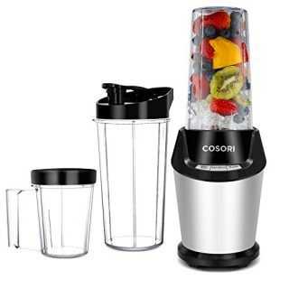 COSORI Smoothie Blender, 10-Piece Blender for Shakes and Smoothies, 23,000RPM Professional Personal Blender Maker with Cleaning Brush and Cups & Bottles (2x32 oz and 1x24 oz),800W (Upgraded Version) - Portable Saunas #smoothie #spring