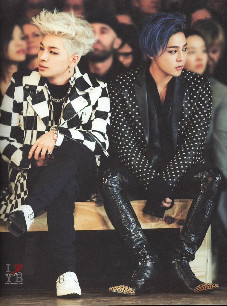 "Taeyang and GD. Im not areally really k-pop fan, but this guys have a lot of ""FACHA"" (just as we says in Argentina  people who dress very well). I love this guys and all the clothes that are thrown up."