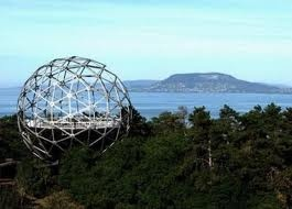 Look-out tower sphere in Balatonboglár, at Lake #Balaton #Hungary