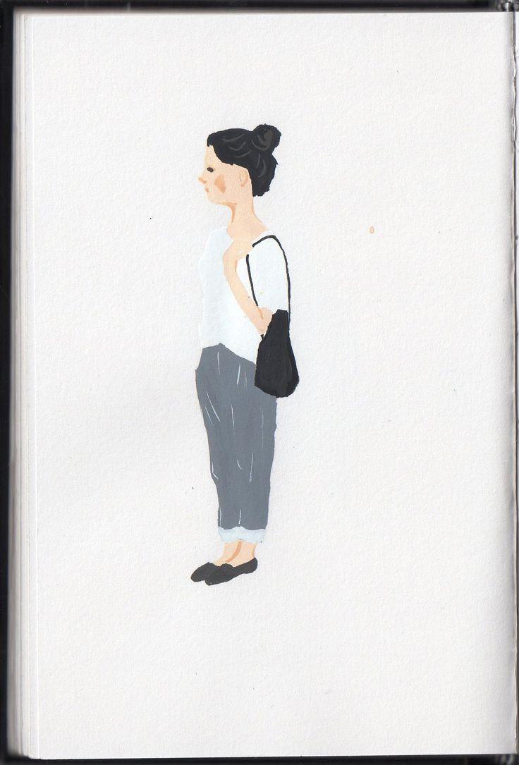 fashion illustration / sketchbook / gouache painting