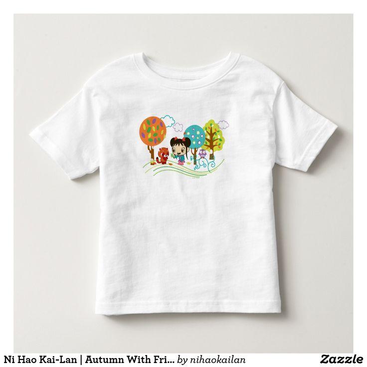 Ni Hao Kai-Lan | Autumn With Friends. T-Shirt. Producto disponible en tienda Zazzle. Vestuario, moda. Product available in Zazzle store. Fashion wardrobe. Regalos, Gifts. Trendy tshirt. #camiseta #tshir