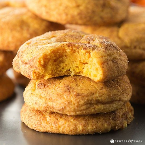 Pumpkin Snickerdoodle Cookies are super soft with just a hint of pumpkin! Made with pumpkin puree, these Pumpkin Snickerdoodle Cookies are the perfect fall treat.
