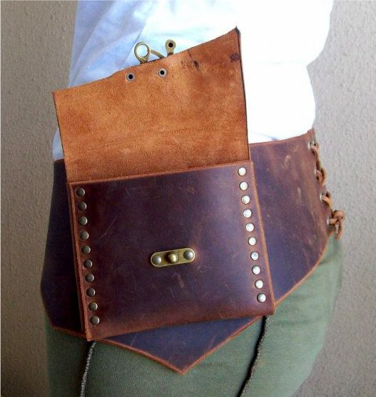 Reserved for delesqui Rustic Leather Pouch by ArchaicLeatherworks