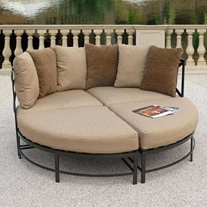 Round Chaise Lounge With Lots Of Cushions