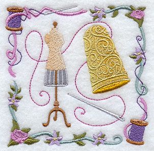 Machine Embroidery Designs at Embroidery Library! - Thimble and Thread Collage