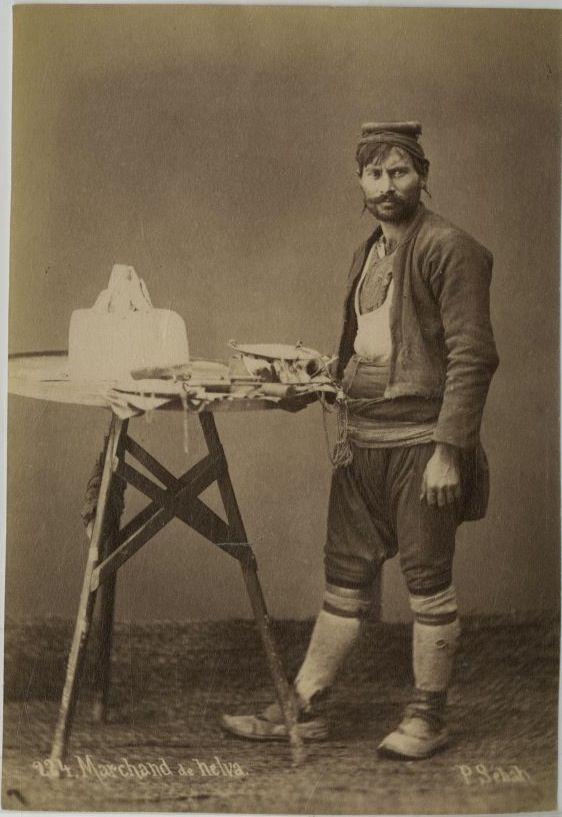 Turkish Halva seller, Ottoman Empire 1875.