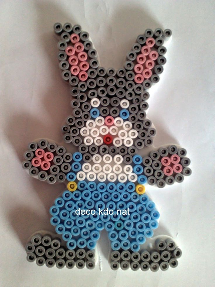 sandylandya@outlook.es Easter bunny hama perler beads by deco.kdo.nat